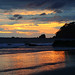 Magnificent colours of Pacific sunset, Espadilla Beach, Costa Rica