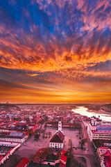 Sunrise | Kaunas old town aerial #52/365