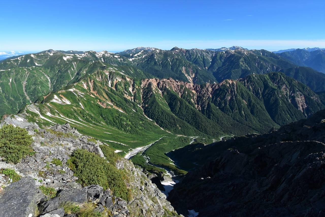 夏の北アルプス 裏銀座縦走登山(テント泊)