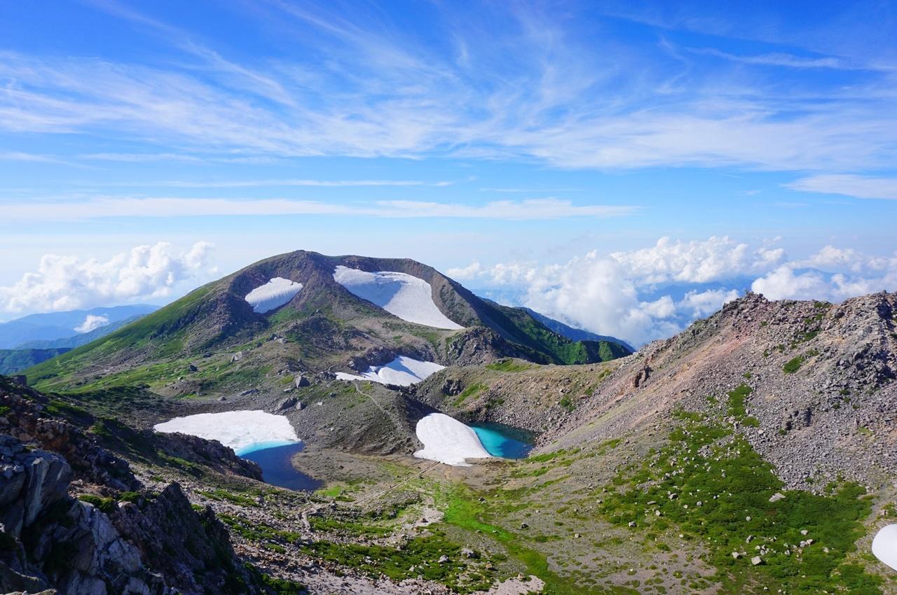 夏の白山 電車・バスで行くテント泊登山