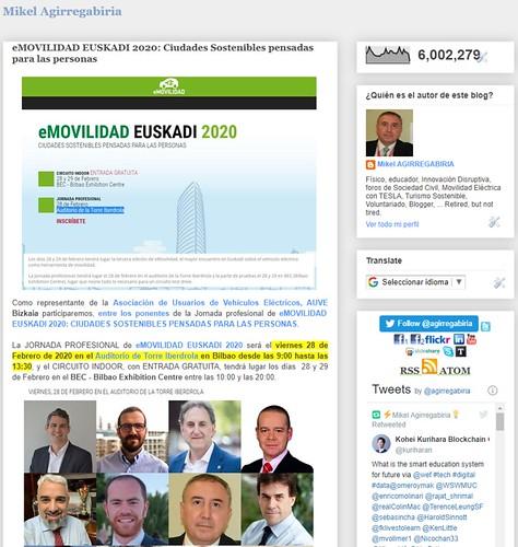 ¡Seis millones de visitas en este vuestro blog! ¡Gracias!