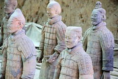 China Chine Xian  Shanxi : Terracotta Army of Qin Shi Huang , the first emperor of China, l'armée de terre cuite , die Terrakotta Armee.