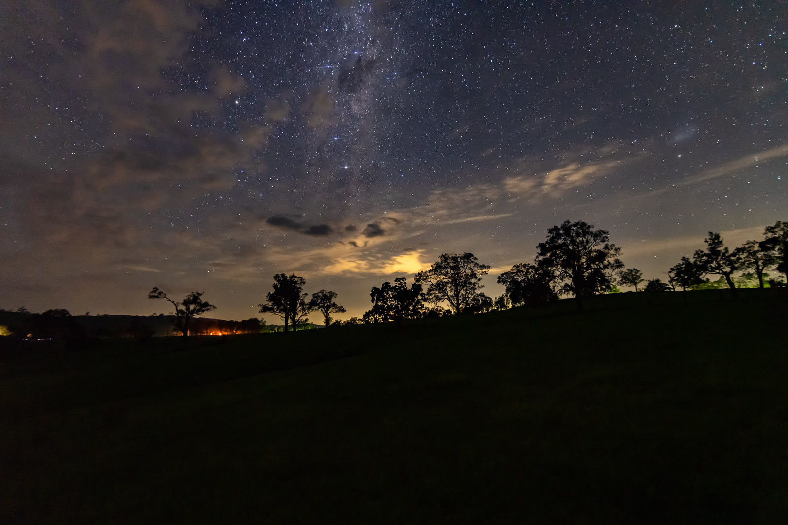 Rural Countryside Starry Night