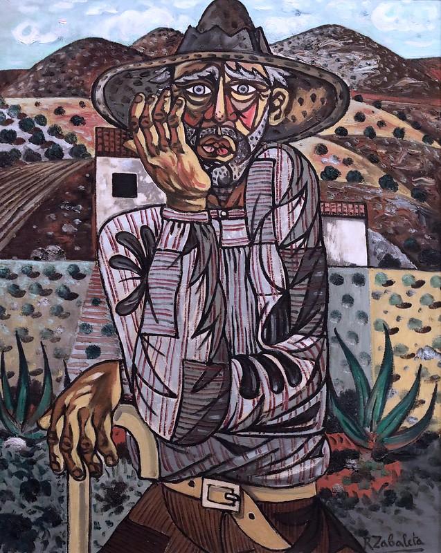 IMG_8264AB Raffael Zabaleta  1907-1960 Spain Campasino adalus Andalusian countryman 1951 Madrid Musée Reina Sofia