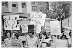 Women march for' equal rights,' 'equal pay:' 1970