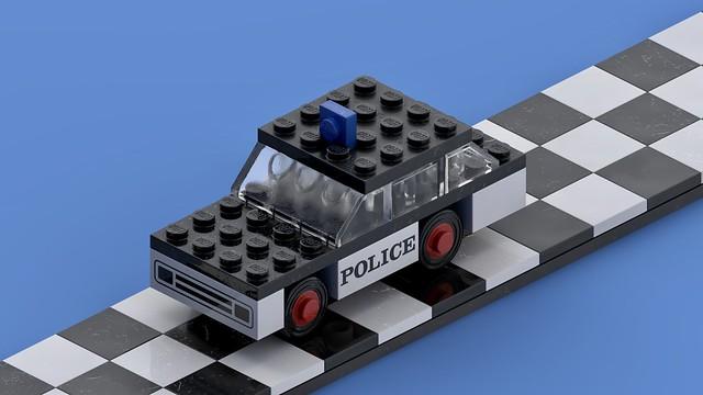 Vintage Legoland set 611 'Police Car' from 1973 (still)
