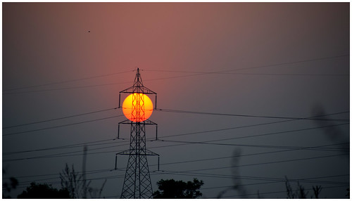 sunset nikond5300 symmetry pylonwires pylon gittersteigen