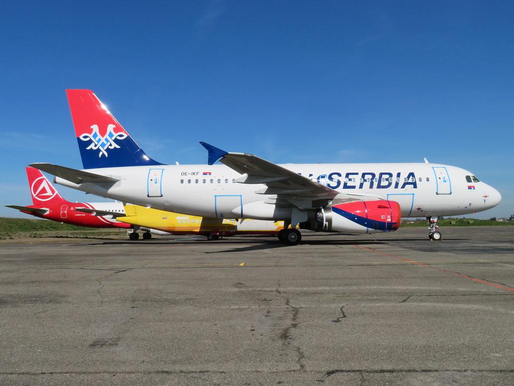 OE-IKF A319 4301 Air Serbia fcs (KF on nwd)