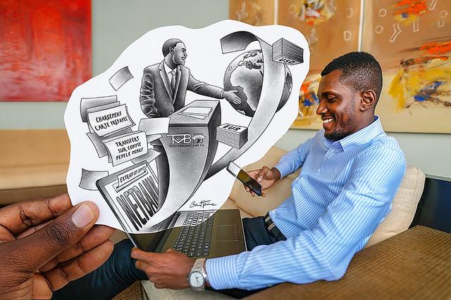 Pencil Vs Camera - Netbank - Trust Merchant Bank - Banque TMB - Kinshasa, Republique Democratique du Congo - Ben Heine Art