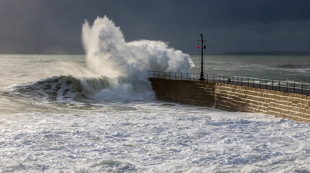 Pounding at Porthleven