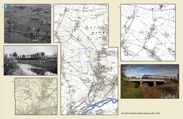 The MSLR's Fitzwilliam Stubbin Lane Colliery Branch at Parkgate, The Mosaic & Narrative - Various