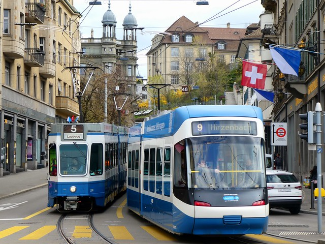 Trams at Zürich