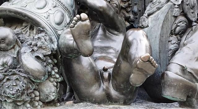 Statue the Triumph of the Republic (detail) - Nation Sq. - Paris - France