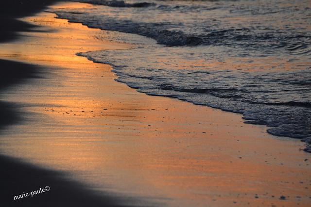 Stimmung beim Sonnenuntergang am Strand