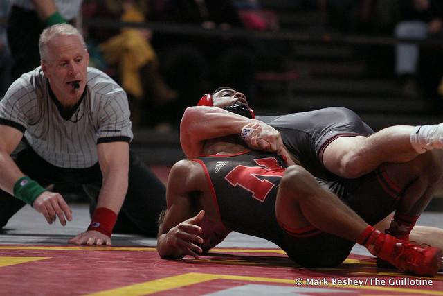 141: #6 Chad Red (Nebraska) fall #5 Mitch McKee (Minnesota) 3:53. 200222AMK0200
