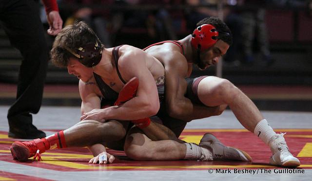 141: #6 Chad Red (Nebraska) fall #5 Mitch McKee (Minnesota) 3:53. 200222AMK0233