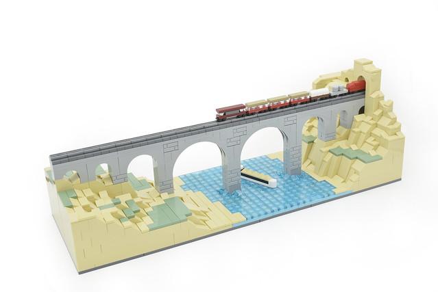 Lego microscale train - atana studio