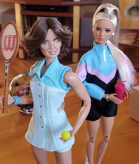 Billie Jean and Puma Barbie ready for a match, perhaps?