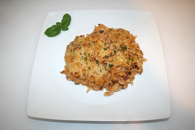 40 - Reuben Pasta Bake - Serviert / Served