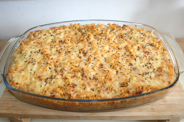 39 - Reuben Pasta Bake - Fertig gebacken / Finished baking