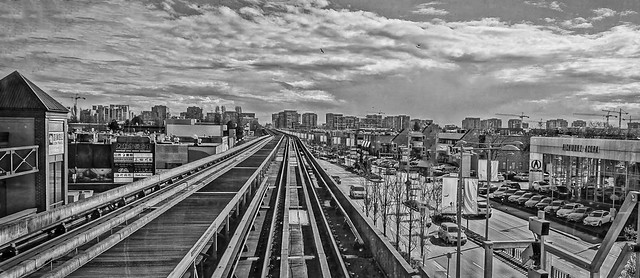 Richmond, BC viewed from Canada line
