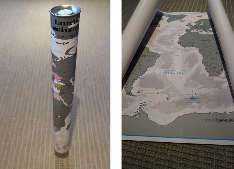 Raaputettava maailmankartta