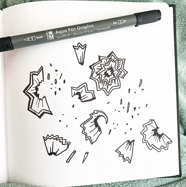 Can you guess what this is? I drew it yesterday morning in my sketchbook to accompany something from earlier in the same book. Also, congrats to Mariska on winning the tiny pencil notepad from the giveaway. Thank you so much to everyone who entered and sa