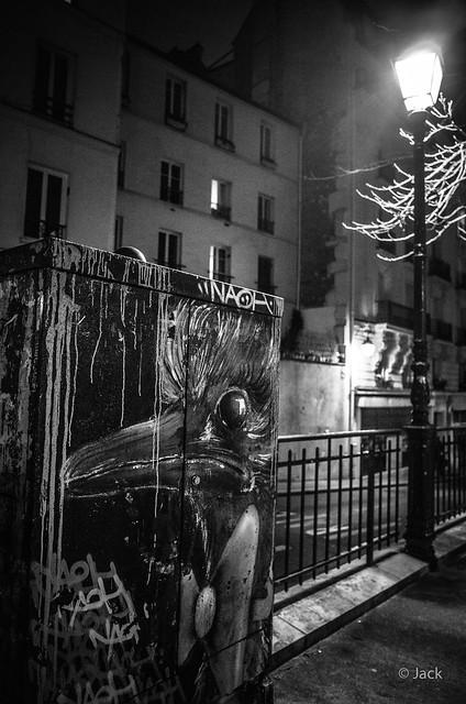 street art de nuit