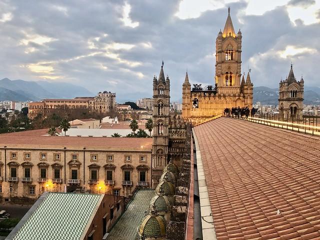 Palermo dall'alto della Cattedrale