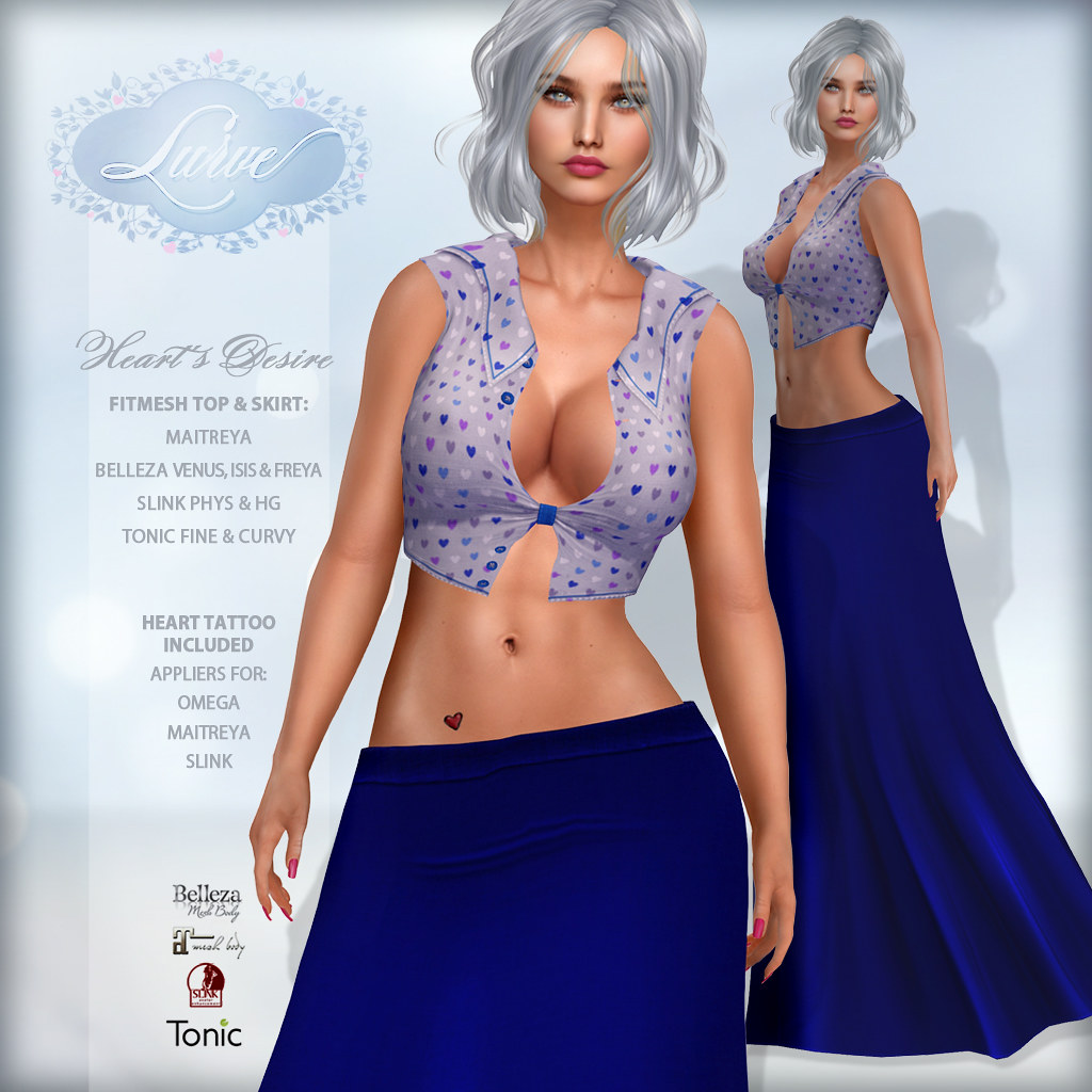 *Lurve* Heart's Desire Outfit in Blue
