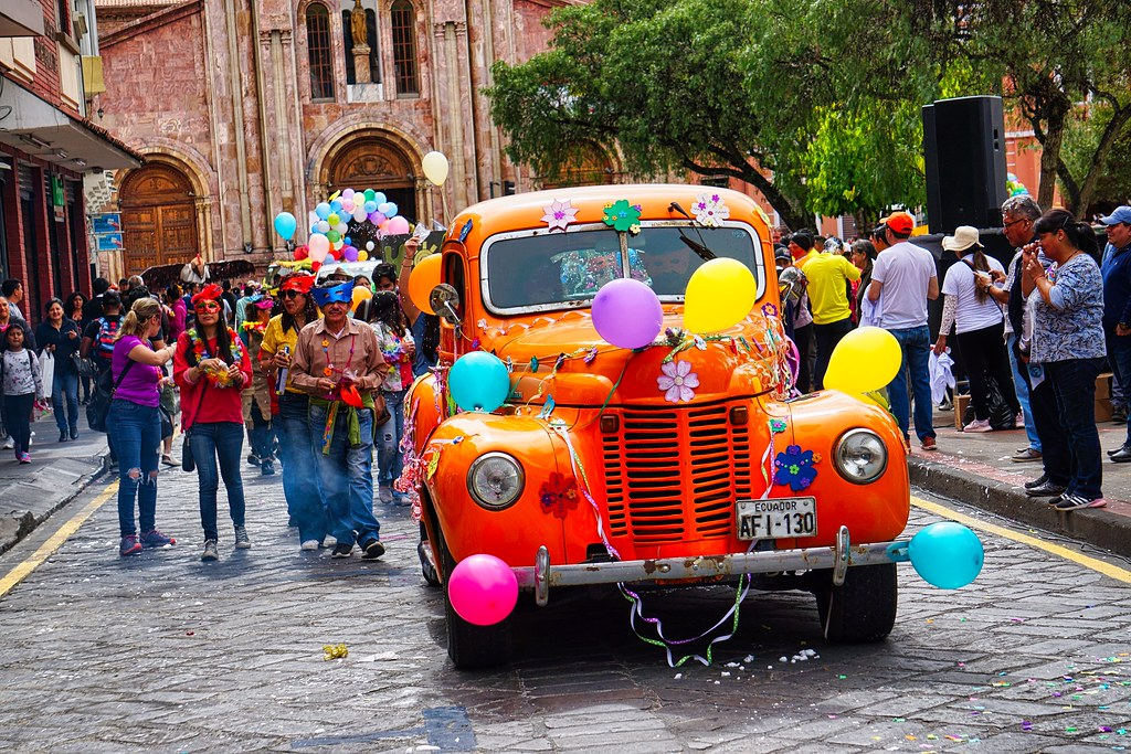 Carnival in Cuenca, Ecuador