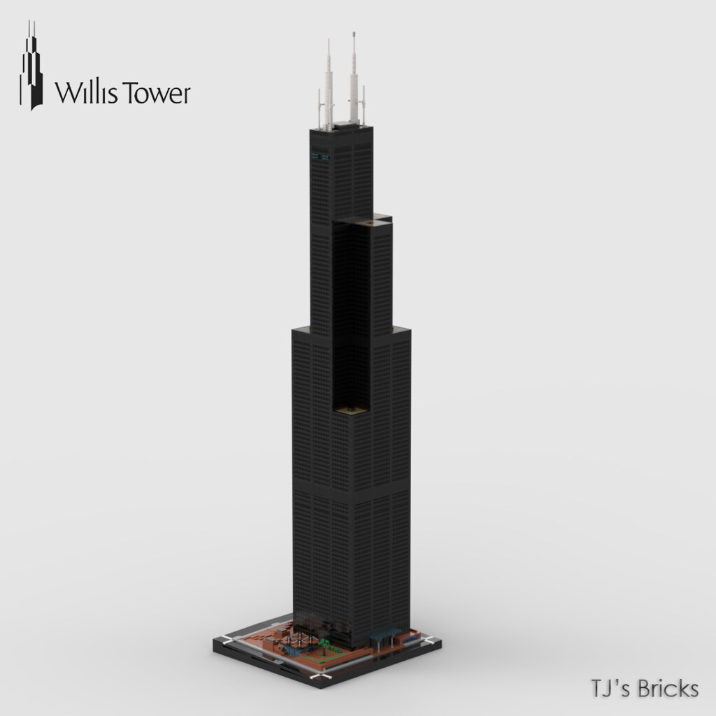 1:400 Willis Tower [Lego MOC]