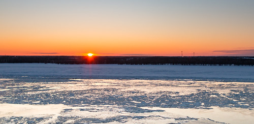 canada morning quebec stlawrenceriver sunrise ice shoreline sun winter