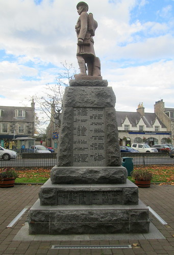War Memorial, Inverurie, From East