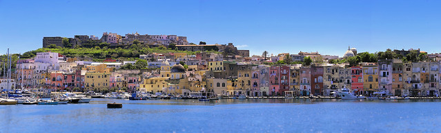Arriving by ferry in Procida