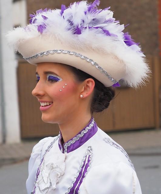 Carnival Street Parade in Moerfelden, near Frankfurt, Germany - Febr. 22, 2020