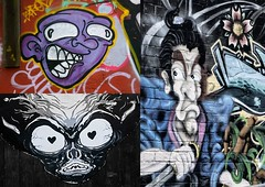 Graffiti collage.