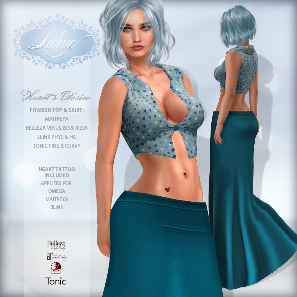 *Lurve* Heart's Desire Outfit in Teal