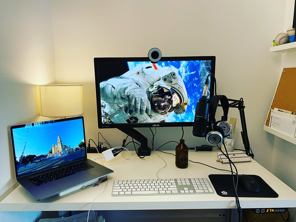 My Desk, with Twitch Streaming Setup 2020