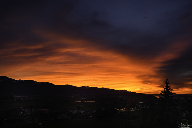 Sunset mood in Kaltbrunn - Switzerland