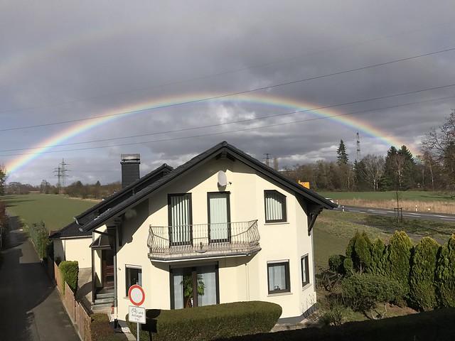 Rainbow - A Look out of my window near Airport Frankfurt, Germany
