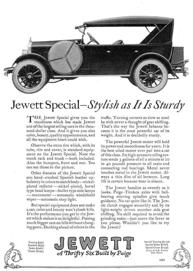 1923 Paige Jewett Special Touring