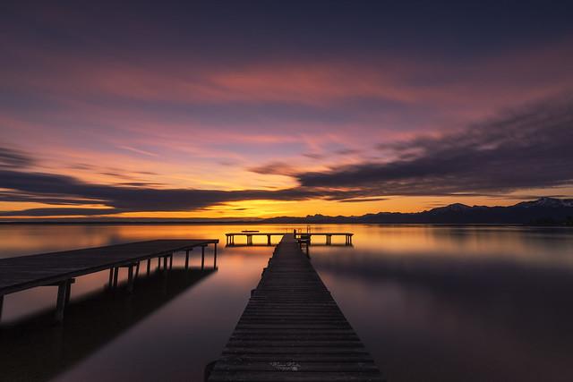 Morning at lake Chiemsee