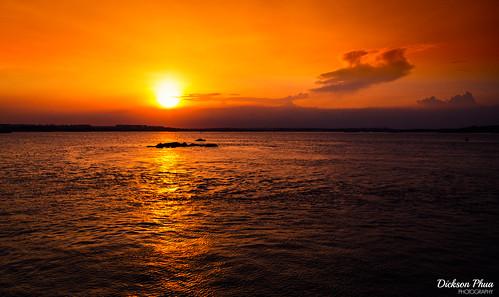 landscape asia east february evening orange sg beach yellow sunset boardwalk sun coastal sky singapore photography south 2019 changi village