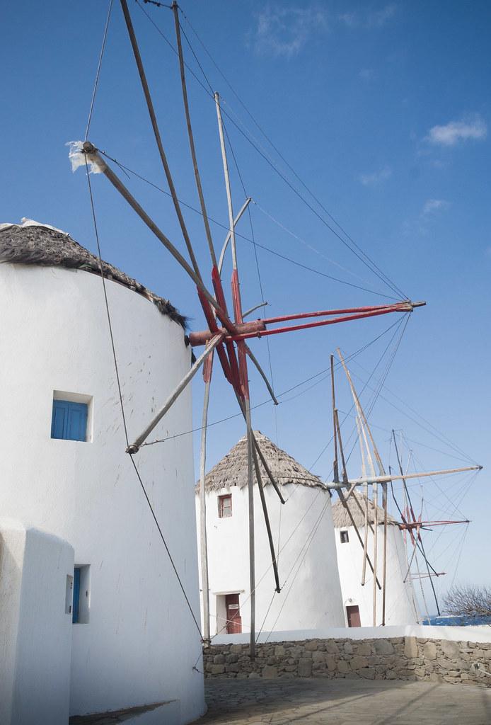 Row of Windmils