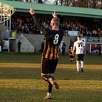 Kai Ross celebrates his goal