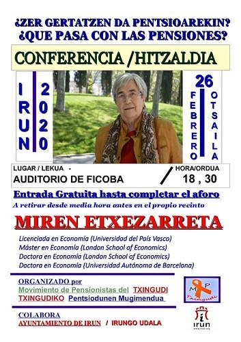 Miren Etxezarreta  Cartel Conferencia en Ficoba