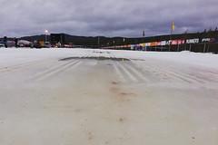 Vasův běh z velké části na technickém sněhu