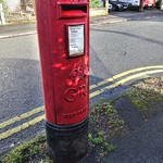 Old red postbox in Ashton, Preston