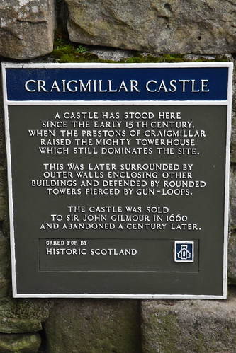 Craigmillar Castle Plaque
